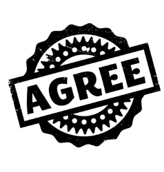 Agree rubber stamp vector