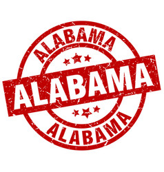 Alabama red round grunge stamp vector