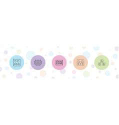 Alphabet icons vector