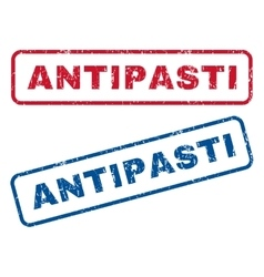 Antipasti Rubber Stamps vector