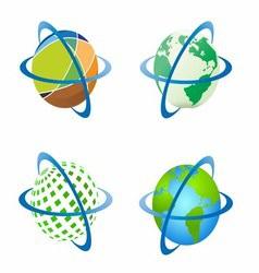 Around world around globe vector