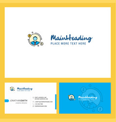 avatar logo design with tagline front and back vector image