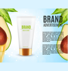 avocado massage oil ads vector image