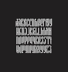 balalaika typeface set vector image