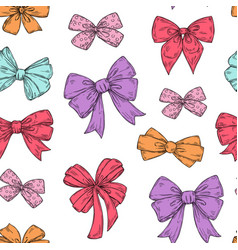 bows pattern fashion tie bows accessories sketch vector image
