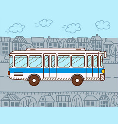 Bus urban public transport vector