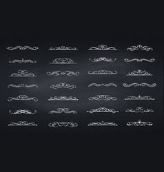 Calligraphic swirls dividers vector