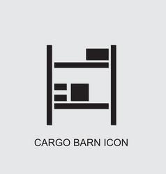 Cargo barn icon vector