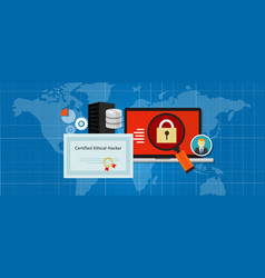certified ethical hacker security expert in vector image
