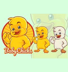 Chick cartoon vector