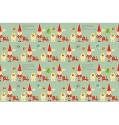 Christmas Decoration Seamless Pattern vector image