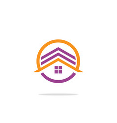 Circle house logo vector