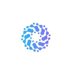 Circles logo freezer abstract logotype vector