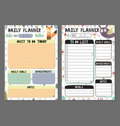 Daily planners collection vector