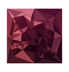 Dark Raspberry Red Abstract Low Polygon Background vector image