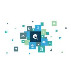 Deep learning infographic 10 steps pixel design vector