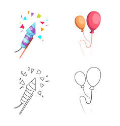 Design of party and birthday logo vector