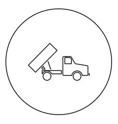 Dumper icon black color in circle vector