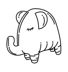 elephant dog toy icon doodle hand drawn vector image