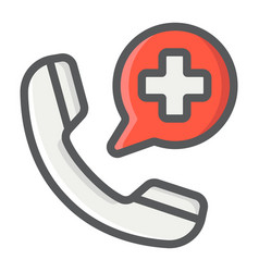 Emergency call filled outline icon medicine vector