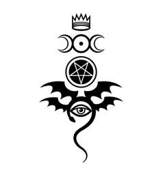Evil eye the greater malefic vector
