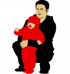 father and his child vector image