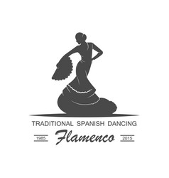 flamenco logotype vector image