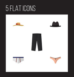 flat icon clothes set of elegant headgear vector image