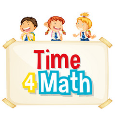Font design for word time for math with happy vector