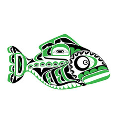 haida perch tattoo vector image