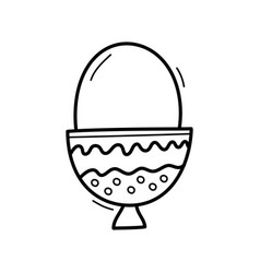 hand drawn doodle egg icon for backgrounds vector image