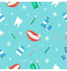 Healthy Teeth Dental Seamless Pattern vector