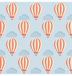 Hot Air Balloon Pattern vector image