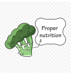 icon broccoli in glasses pointing to a plate with vector image