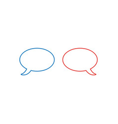 icon concept of two speech bubbles color outlines vector image