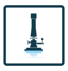 Icon of chemistry burner vector image