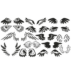 Icons wings vector