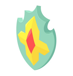 imperial shield icon isometric style vector image