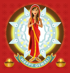 India Dewali Deepavali Celebration vector