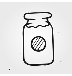 Jam-jar hand drawn vector