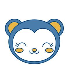 Kawaii monkey icon vector