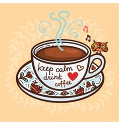 Keep calm drink coffee vector