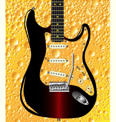 lager guitar vector image vector image