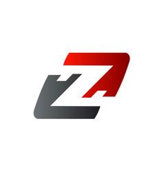 letter z logo speed logo design concept template vector image