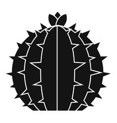 Lophophora cactus icon simple style vector