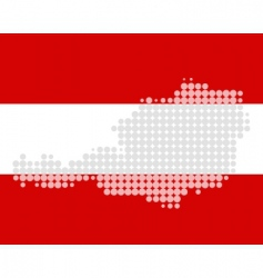 map and flag of austria vector image