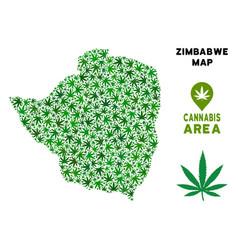 Marijuana mosaic zimbabwe map vector
