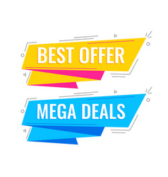 memphis style sale banners in bright colors vector image