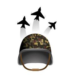 Military helmet icon vector