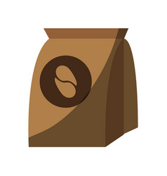 Pack of coffe in paper bag vector